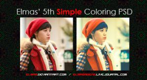 Elmas' Simple Coloring PSD 05 by Elmas