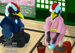 COMMISSION - Yuriko Tea Ceremony by Algren-Hayabusa
