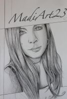 MadiArt23 Portrait Request - Traditional by Visualiart