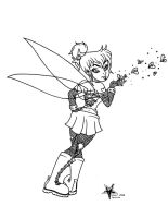 Goth Tinkerbell Flashart by Almigh-T