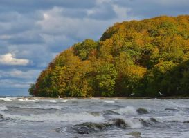 storm and sea by Dieffi