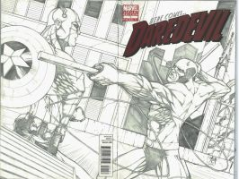 Daredevil 1 Sketch Cover by Ace-Continuado