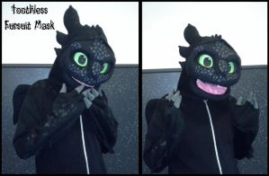 Toothless Fursuit Cosplay Mask - HTTYD by TheBandicoot