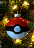 Pokeball Ornament by studioofmm