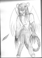 Demon Rough Sketch by ThatChickWithDaPony