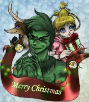 Christmas With Teh Grinch by TEENTITANSFAN