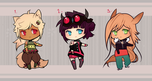 - free adoptables - (CLOSED) by SoukiAdopts