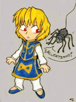 Salutations Kurapika! by SocksTheMutt