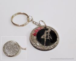 Silver Sailor Moon Keychain by unconventionalsenshi