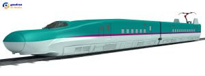 High-speed Train Shinkansen E5 series by Gandoza