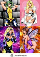Marvel Girls by gb2k by Mythical-Mommy
