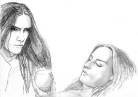 Fingon and Maedhros sketch by Airendis