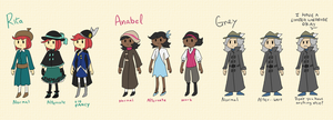 Alternate Outfits: Sleepless Cast by LlamaDoodle