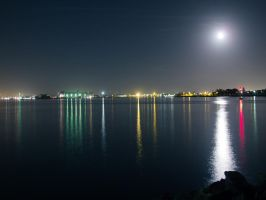 A Moonlit Harbor by Owlicopter