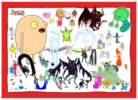 Adventure Time Composite (57 Characters As O by dandoorlando