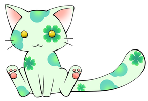 Lucky Kitty Adoptable:OPEN by MuffinAdopts
