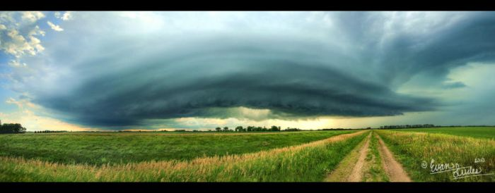 Supercell Panorama II by FramedByNature
