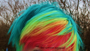 Rainbow hair by ScruffyFluffy