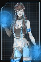 X-Men OC - ElectricBlue (faceview) by monsterhighlover3