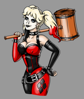 Harley Quinn Tattoo Design by G4M3Kitty