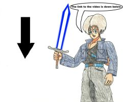Trunks with a Lightsaber by WaRrior9100