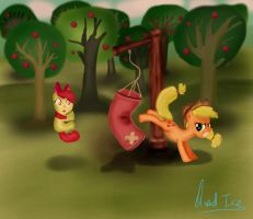 Applejack's training. by QuadICE
