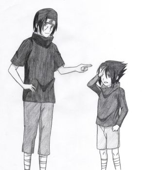 Itachi and Sasuke by Ulokanopie