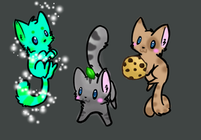 Cute Cat Adoptables #3 ~OPEN~ by puffley115