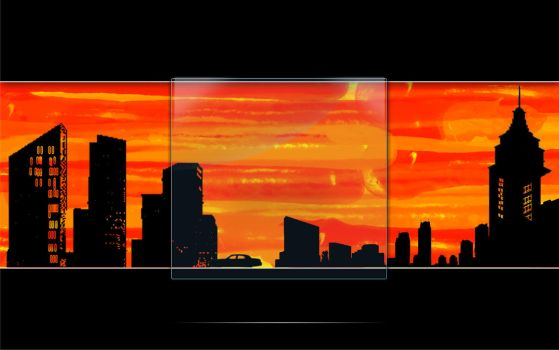 Sunset City Windows - LogonXP by sato112