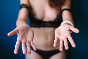Hands and blue wall by Who-Is-Chill