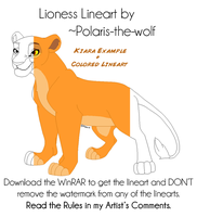 Lioness Linearts by Polaris-the-wolf by RakPolaris