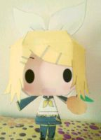Kagamine Rin - Papercraft by Aninsey