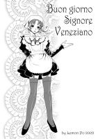 Veneziano as maid by LemonPo