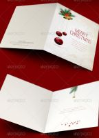 Merry Christmas Greeting Card Template by loswl