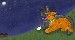 Scourge and Emberpelt by CascadingSerenity