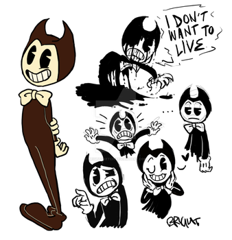 BENDY THE CUTE LIL DEMON by BrightSketch