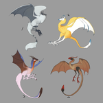 Fluffydragonbirdthings Point adopts~ #2 OPEN by Crypahit