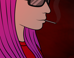 Yet another smoking Suzy by Airyfellow