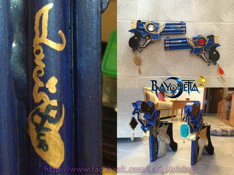 Bayonetta 2 - Guns love is blue with charms by JudyHelsing