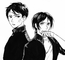 Ebisu and Yato (school AU) by b-snippet