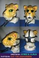 Painted Gas Mask: Leopard by Catwoman69y2k