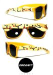 Pikachu Pokemon Hand Painted Wayfarer Custom Glass by felixartistixcouk