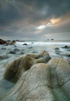 rock sea and sky by emmbbee