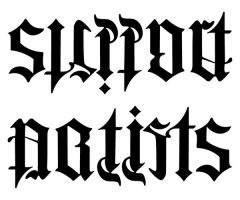 Support Artists Ambigram by pixelworlds