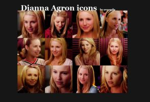 Dianna Agron icons by OvOsmile