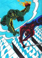 Spidey VS Greengoblin by Apollorising