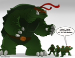 Gamera and the TMNT by Misterho