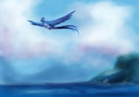 bg practise 3 - Articuno by deathbybroccoli