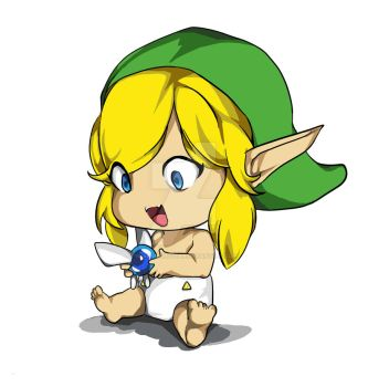 Baby link by BlackNightStar