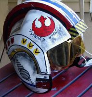 Star Wars rebel pilot x-wing helmet by ProperRocket
